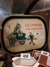 Guinness For Strength advertising tray.