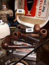 Collection of tobacco pipes.