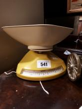 Retro kitchen scales.