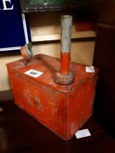 Vintage petroleum spirit petrol can.