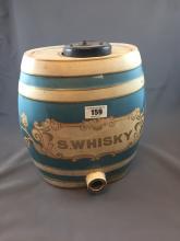 19th. C. ceramic S WHISKY keg.