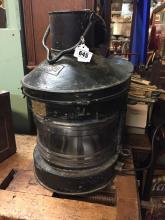 19th. C. metal ship's lamp.