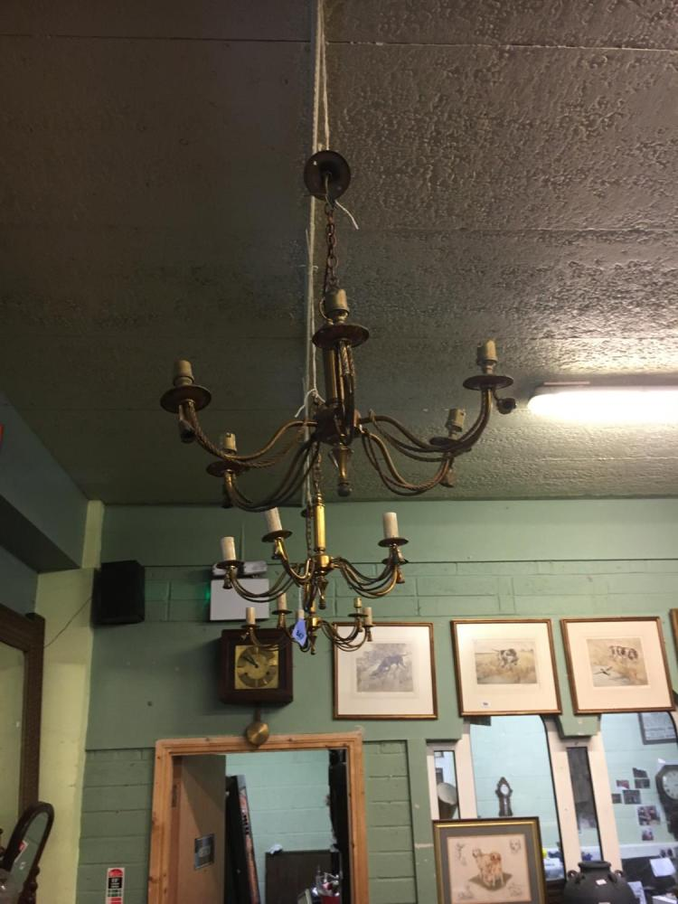 Three 1920 39 s five branch chandeliers - Chandelier a 5 branches ...