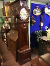 William IV. Mahogany drum head long cased clock.
