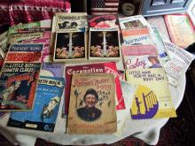 42 x Sheet Music 1903 - 1950's - Most with Illustrated covers + 2 x The Beatles Complete - Piano Vocal/Easy Organ with the Guitar Edition - Illustrated - Wise Publications London - circa 1975.