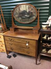 Edwardian inlaid mahogany dressing table.