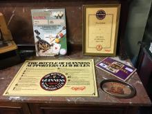 Collection of CYDER ROYAL & GUINNESS memorabilia.