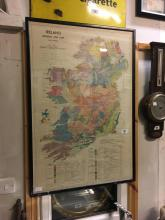 Framed print of Map of Ireland.  General Soil Map.