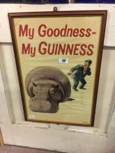 Framed MY GOODNESS MY GUINNESS advertisement.