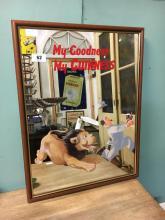 MY GOODNESS MY GUINNESS framed advertising mirror.
