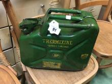 Original metal BP THERMIXINE jerry can.