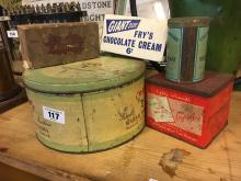 Miscellaneous lot of advertising sweet tins and boxes.