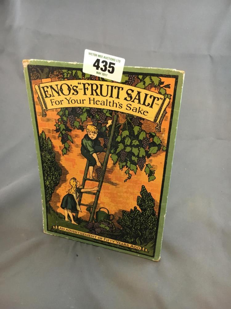 Eno S Tarots Original Rider Waite Tarot: Original ENO's FRUIT SALT Cardboard Advertisement