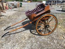 19th. C. pony trap made by DANIELS of CAVAN.