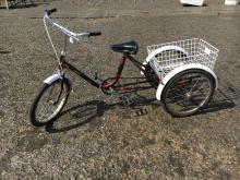SHIELD tricycle with basket.