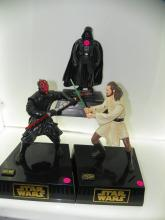 3 PC LOT INCLUDING STAR WARS COLLECTOR FIGHTING BANKS -