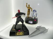 3 PC STAR WARS LOT INCLUDING DARTH MAUL BANK, C-3PO & R