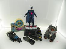 BATMAN BOX LOT INCLUDING BATMOBILE CAR, BATMAN BANK, AL
