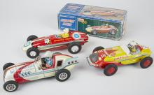 Lot of 3 - Misc. Made In China, Litho. Tin Toy Race C
