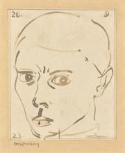 Gottfried Brockmann - Self portrait. 1923