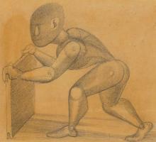 """Gottfried Brockmann - """"Bewegungsstudie zu dem Bild """"Kinderspiele"""""""". 1922"""