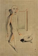 """Gottfried Brockmann - """"Schreitender (Schlemihl)"""". 1926"""