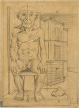 """Gottfried Brockmann - """"Akademiemodell (Anton, der ehemalige ,Rhinroller' 80 Jahre)"""". 1926"""