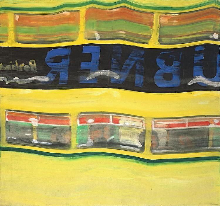 """Karl Horst Hödicke """"Reflektion (Bus)"""