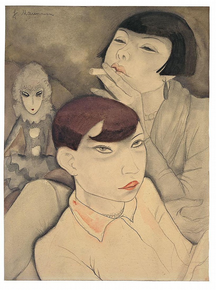 """Jeanne Mammen """"Langweilige Puppen"""