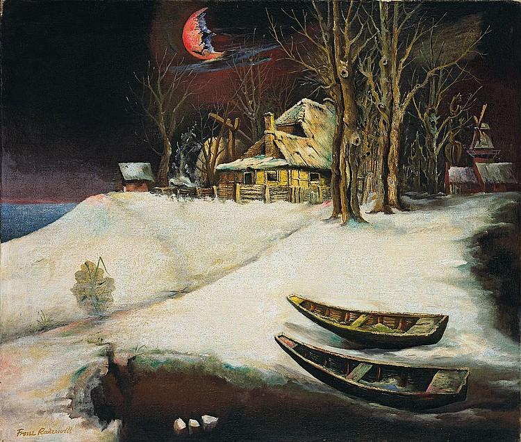 """Franz Radziwill """"Landschaft (Der zerbrochene Wintermond)"""