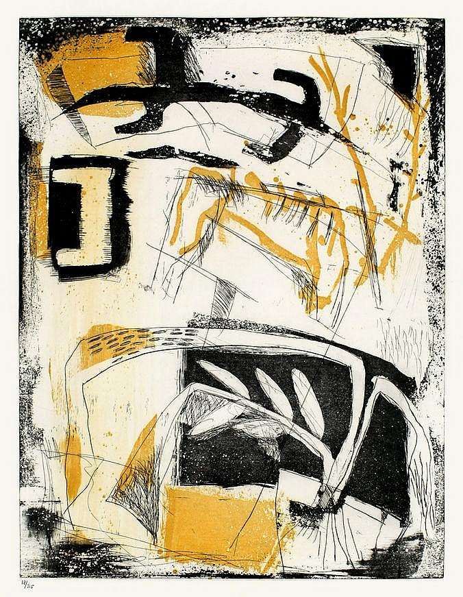 Ulrich, Kjeld 1942 - 0 Coloured aquatint and etching on firm wove paper
