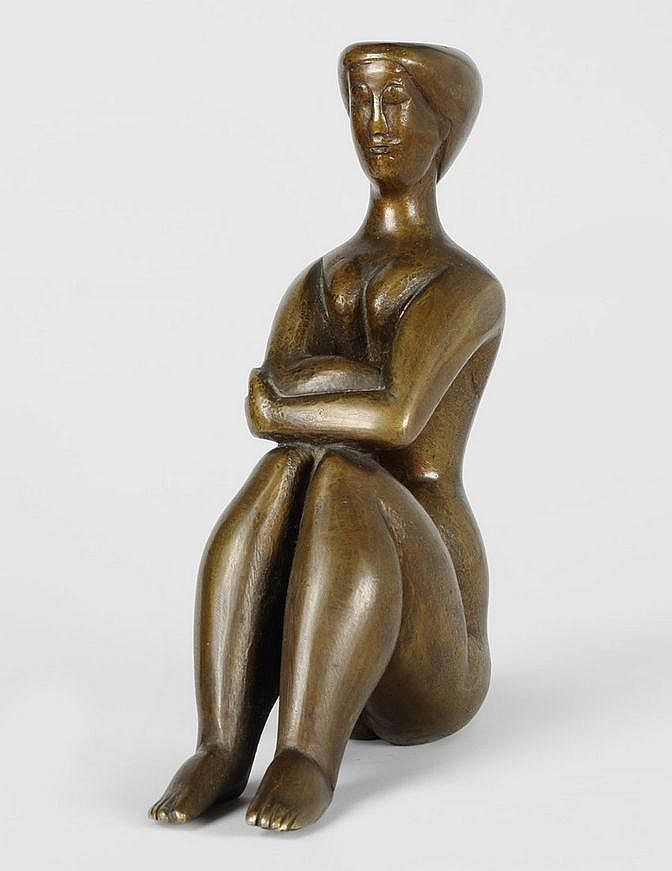 Schrieber, Ludwig Gabriel 1907 - 1975 Bronze with brown patina