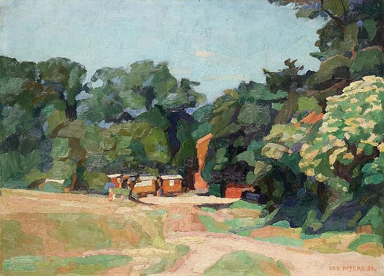 Peters, Udo 1884 - 1964 Oil on cardboard