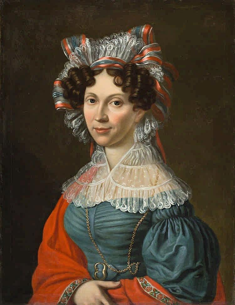 Wilhelm Ferdinand Bendz, Damenportrait, , Oil on c