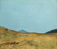 Toni (Anton) von Stadler, Alm vor zwei Berggipfeln