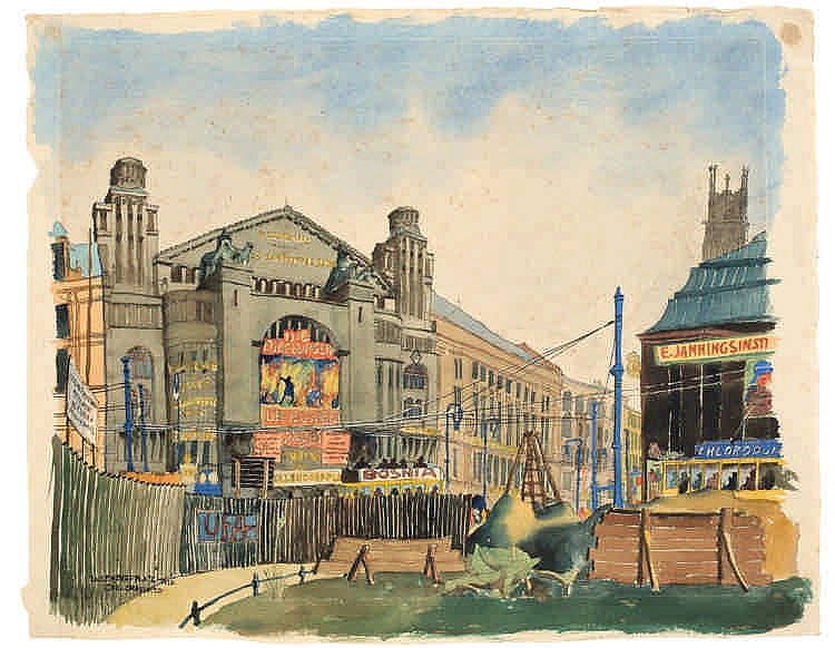 Carl Grossberg,  Nollendorfplatz , Titled, dated a