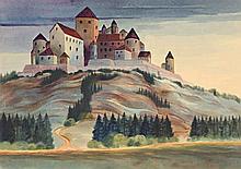 Christian Arnold, Die Burg , Monogrammed in penci