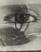 Maurice Tabard, L'oeil et la plage (photomontage),