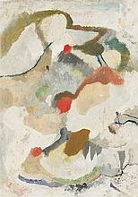"""Carl Buchheister, """"Komposition mit drei roten Flecken """""""