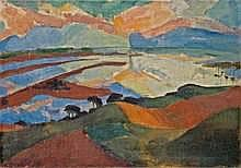 Max Kaus 1891 - Berlin - 1977 HIDDENSEE 1922. Oil