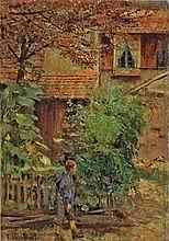 Franz Skarbina 1849 - Berlin - 1910 DORFSZENE IM