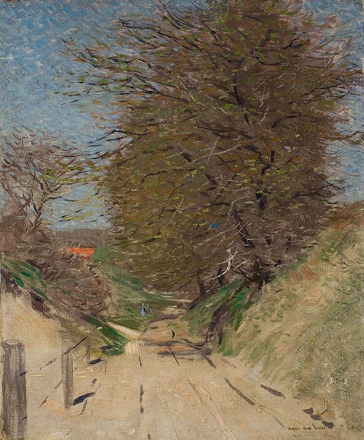 Ende, Hans am Feldweg mit Bäumen