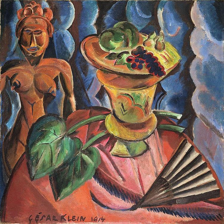 Klein, Cesar Stilleben mit afrikanischer Figur