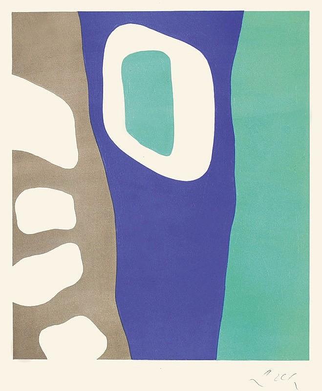 """Arp, Jean (Hans), 1886 - 1966, """"Coulisses de forêt"""