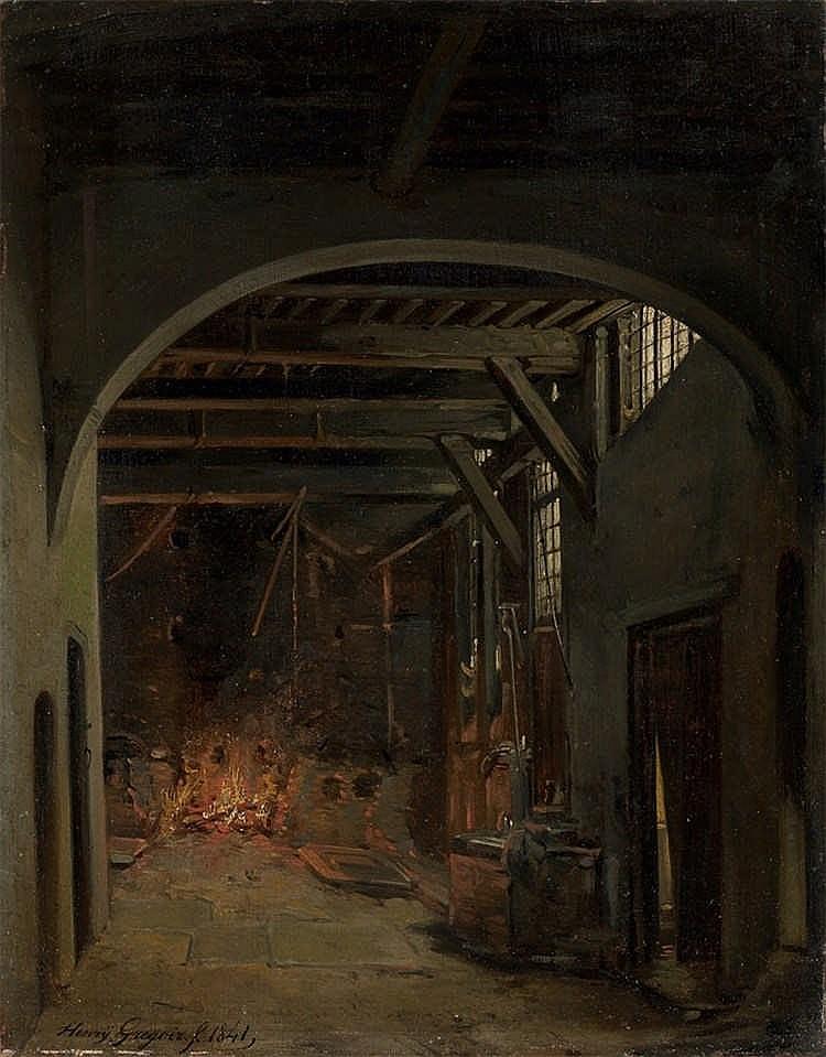 Henry Grégoir - In der Schmiede