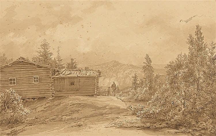 August Matthias Hagen - Blockhütte