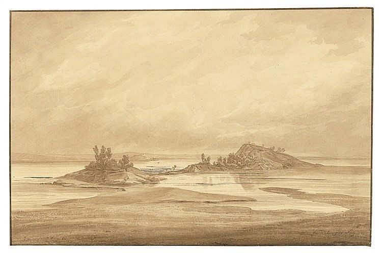 August Matthias Hagen - Die beiden Inseln im unteren See von Tammerfors (Tampere)