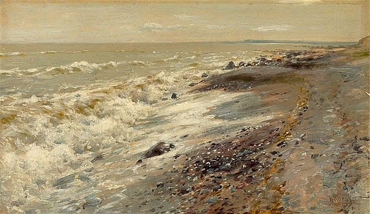 Walter Moras - Der Strand bei Sassnitz (Rügen)