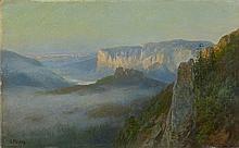 Bernhard Mühlig - Nebel im Elbsandsteingebirge