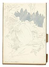 Viktor Paul Mohn - Sketchbook of studies of plants, trees and Saxonian landscapes